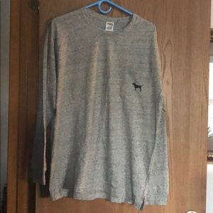 Pink Long Sleeve Gray Shirt Size L